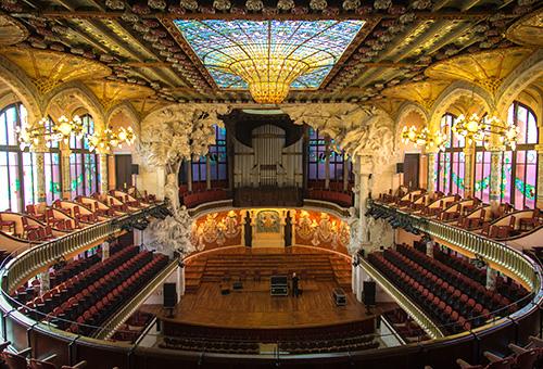 於華麗的加泰隆尼亞音樂宮欣賞佛朗明哥