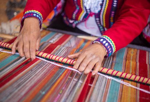 Taquile島的男人編織不輸女人