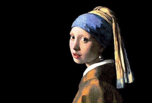 細看戴珍珠耳環的少女