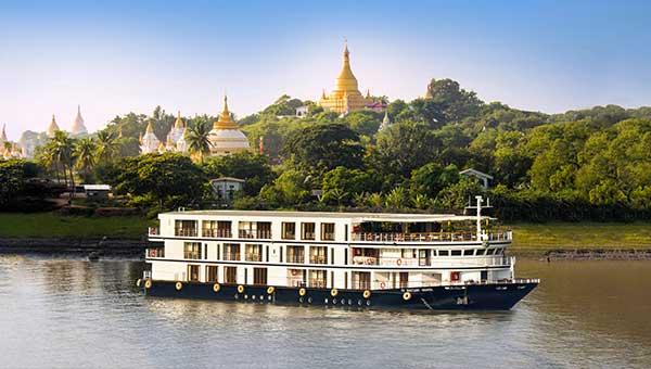 緬甸+伊洛瓦底江河輪上水 蒲甘→曼德勒