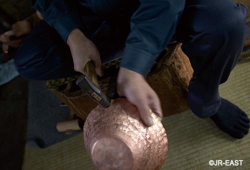 新潟縣燕市「鎚起銅器」體驗, 嘗試敲敲打打