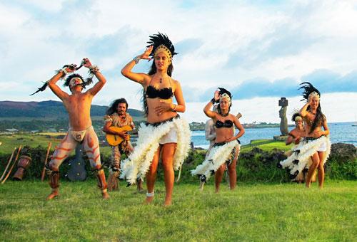 夕陽微風中欣賞傳統舞蹈