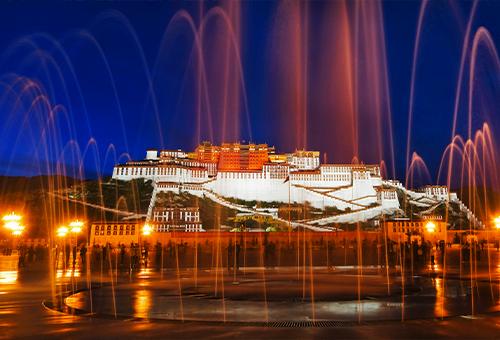 布達拉宮夜色