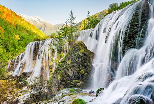九寨瀑布之美