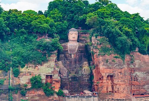 世界最大石刻佛像-樂山大佛