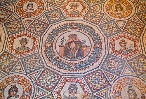 古羅馬別墅馬賽克地磚