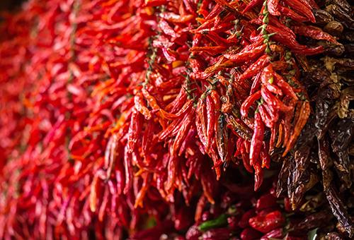 被譽為當地「紅色黃金」紅椒