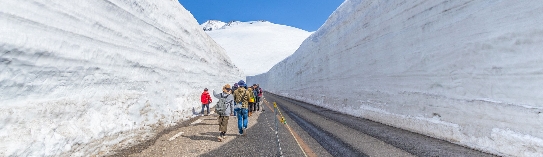 立山黑部雪壁