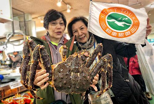 和商市場品嚐嚴選當季螃蟹