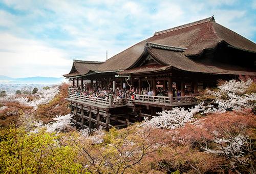 清水寺眺望京都街景