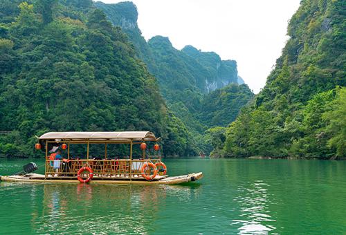 遊船大七孔景區