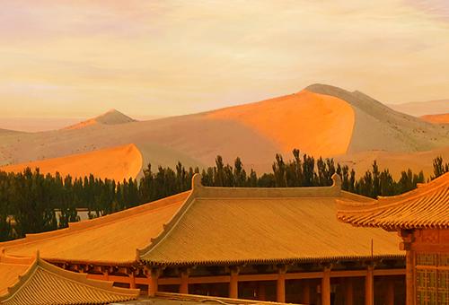 靜享大漠日落晨曦