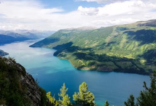 鳥瞰喀納斯湖
