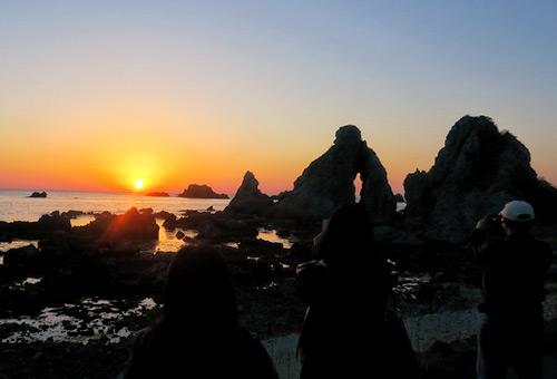 七浦海岸夕陽餘暉的感動