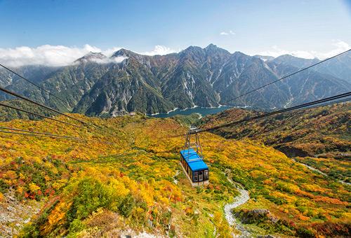搭乘纜車沿途欣賞群山美景