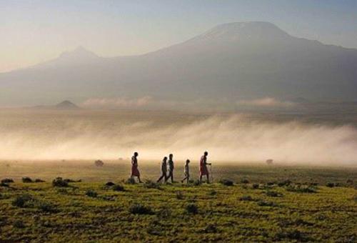 來自吉力馬札羅山的火山灰