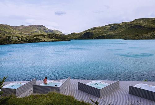 Explora Patagonia戶外按摩浴缸擁抱自然