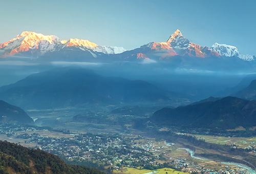 Sunrise at Annapurna mountains